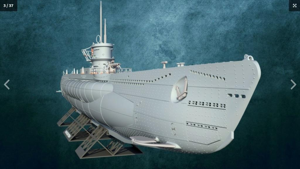 Sous-marin U-Boat VIID résine 3D au 1/100 Captur11