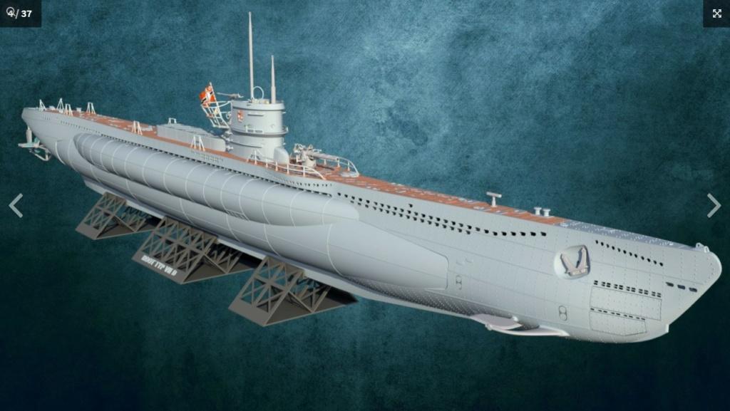 Sous-marin U-Boat VIID résine 3D au 1/100 Captur12