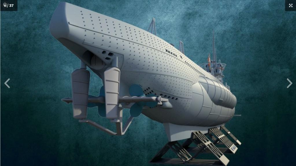 Sous-marin U-Boat VIID résine 3D au 1/100 Captur13