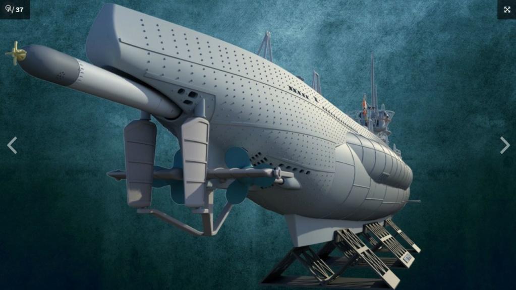 Sous-marin U-Boat VIID résine 3D au 1/100 Captur14