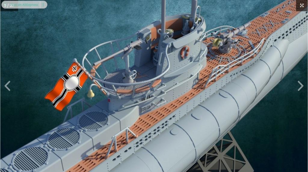 Sous-marin U-Boat VIID résine 3D au 1/100 Captur15