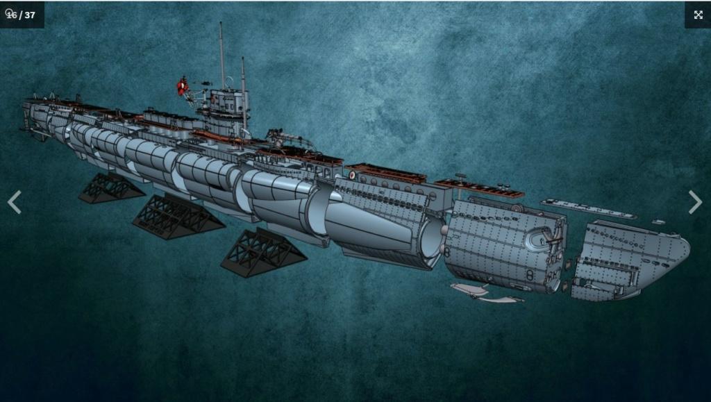 Sous-marin U-Boat VIID résine 3D au 1/100 Captur19