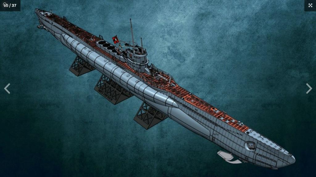 Sous-marin U-Boat VIID résine 3D au 1/100 Captur20