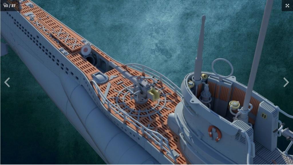 Sous-marin U-Boat VIID résine 3D au 1/100 Captur21