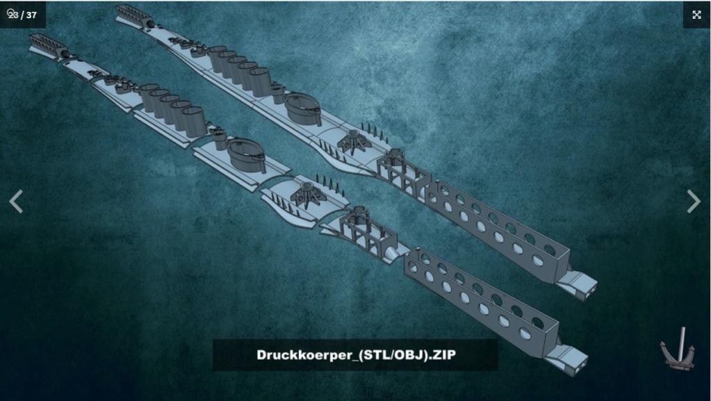Sous-marin U-Boat VIID résine 3D au 1/100 Captur23