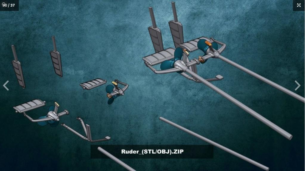 Sous-marin U-Boat VIID résine 3D au 1/100 Captur25