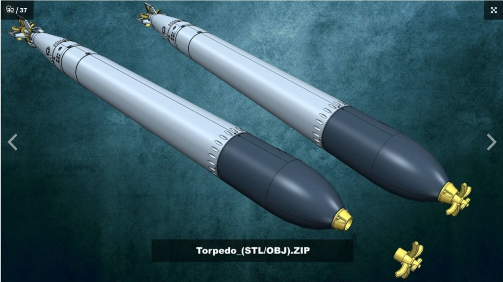 Sous-marin U-Boat VIID résine 3D au 1/100 Captur28