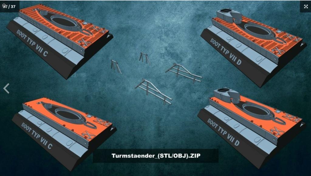 Sous-marin U-Boat VIID résine 3D au 1/100 Captur29