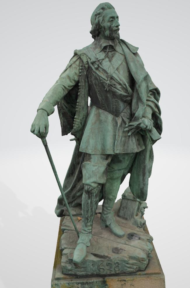 Armand Jean du Plessis Duc de Richelieu Résine 3D ( 12cm ) Terminé Captur76