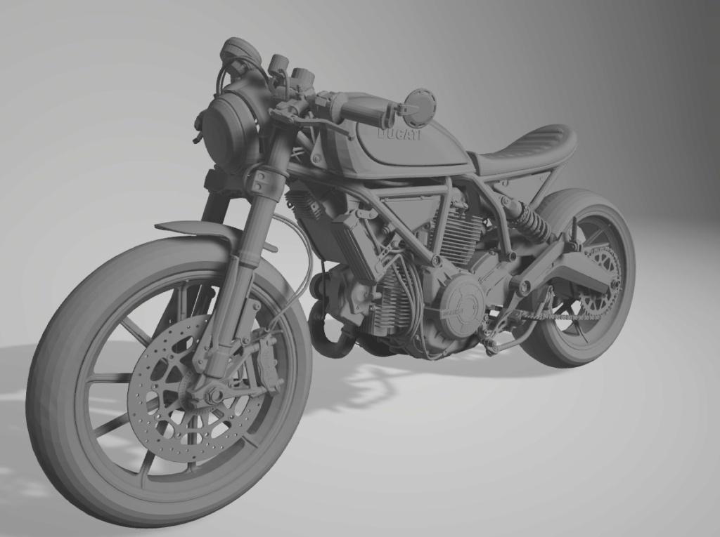Moto Ducati Scrambler 1/10 3D Ducati10