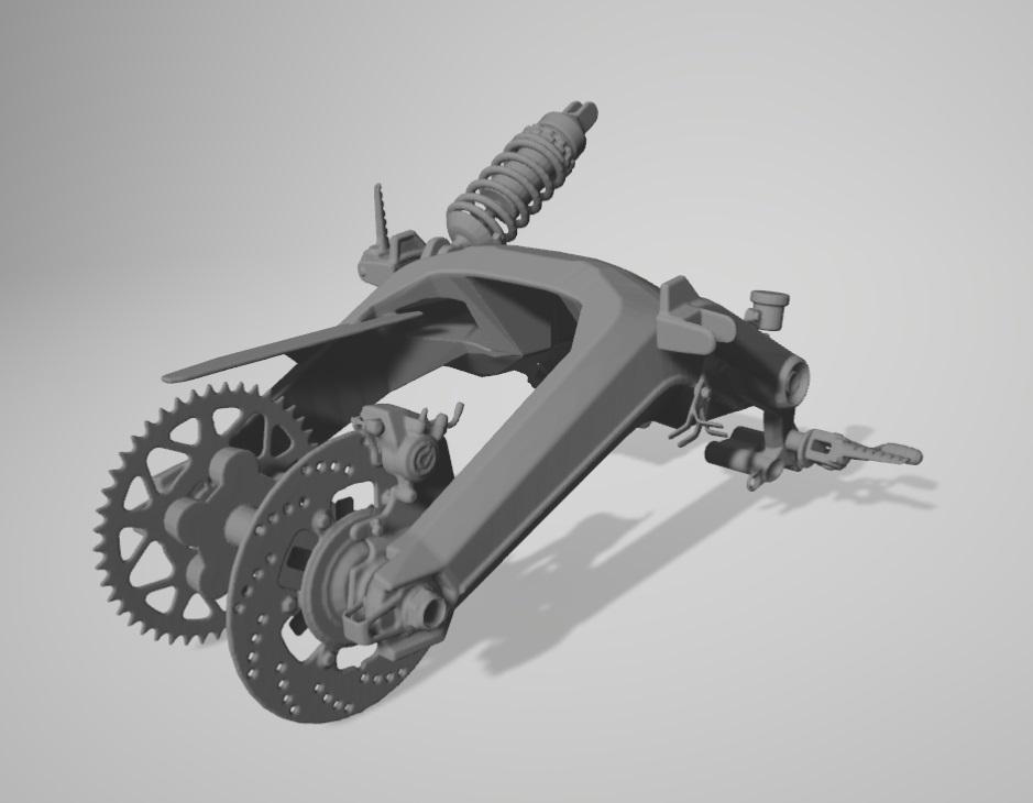 Moto Ducati Scrambler 1/10 3D Fourch10