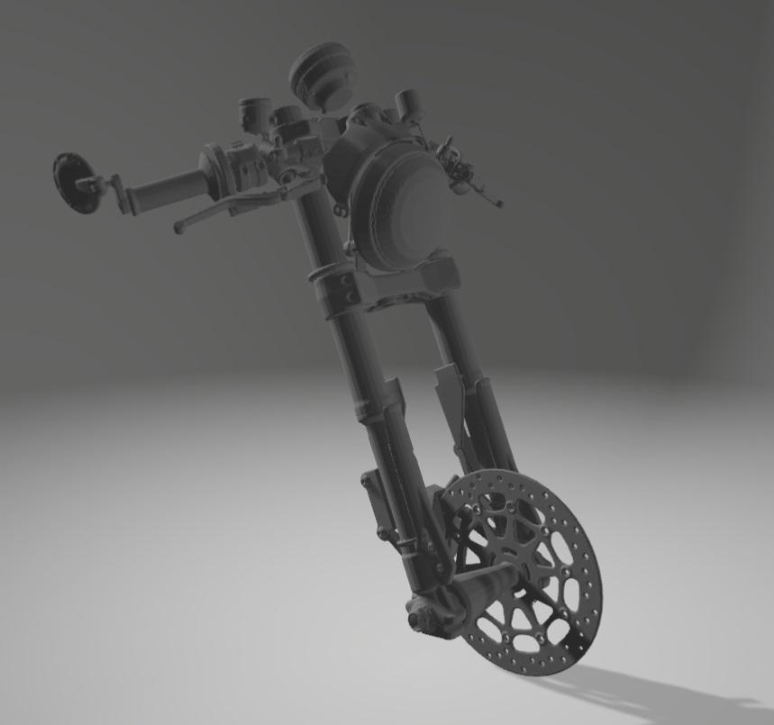 Moto Ducati Scrambler 1/10 3D Fourch11