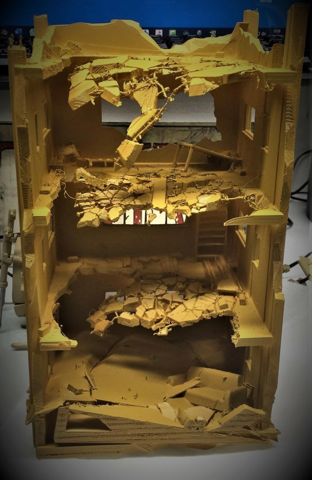 Maison en ruine au 1/35 Plastique fondu Img_5858
