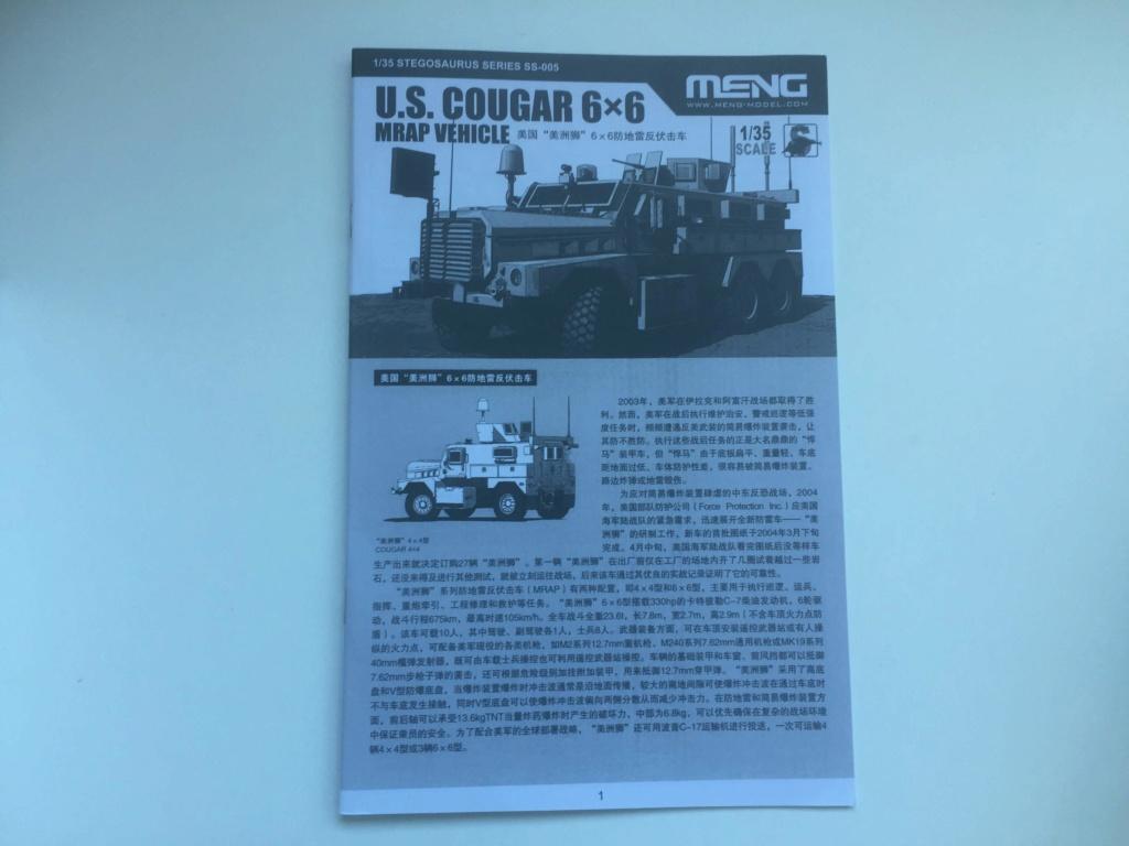 U.S. COUGAR 6X6 Mrap vehicle MENG 1/35 Termine Img_6150