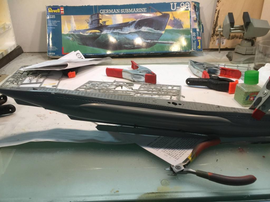 German Submarine Type VIIB U-99 Revell 1/125 Img_6411