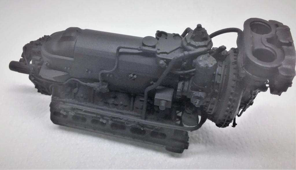 Rolls-Royce Merlin engine résine 1/24 Img_6456
