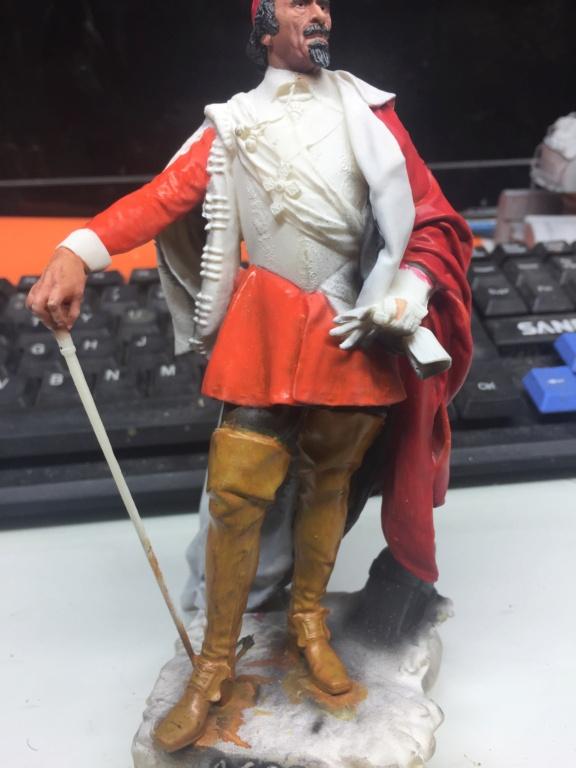 Armand Jean du Plessis Duc de Richelieu Résine 3D ( 12cm ) Terminé Img_7121