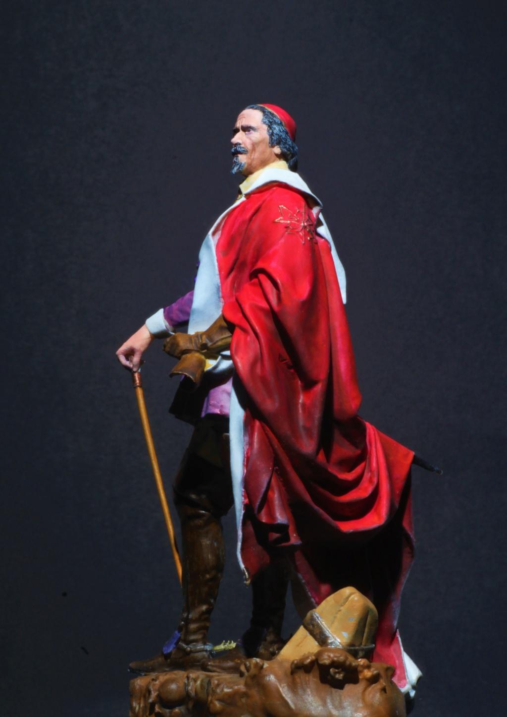 Armand Jean du Plessis Duc de Richelieu Résine 3D ( 12cm ) Terminé Img_9117