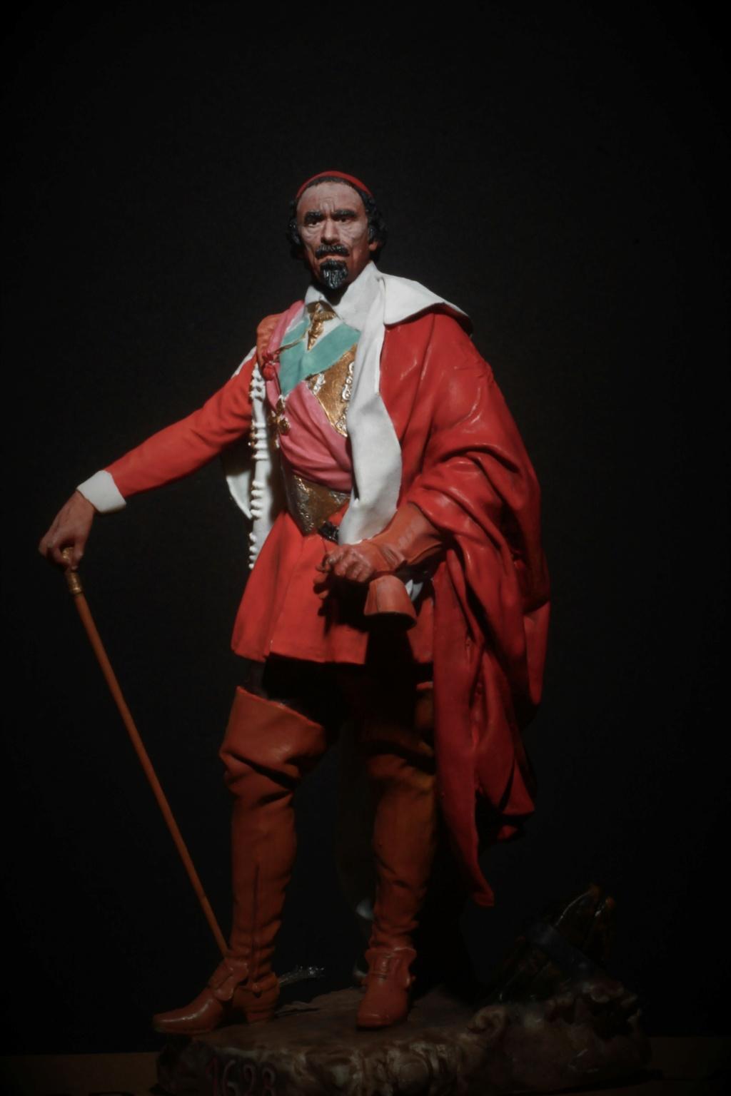 Armand Jean du Plessis Duc de Richelieu Résine 3D ( 12cm ) Terminé Img_9291