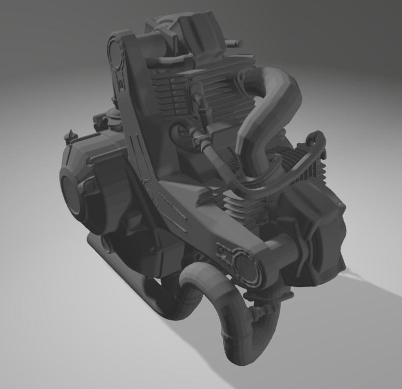 Moto Ducati Scrambler 1/10 3D Moteur10