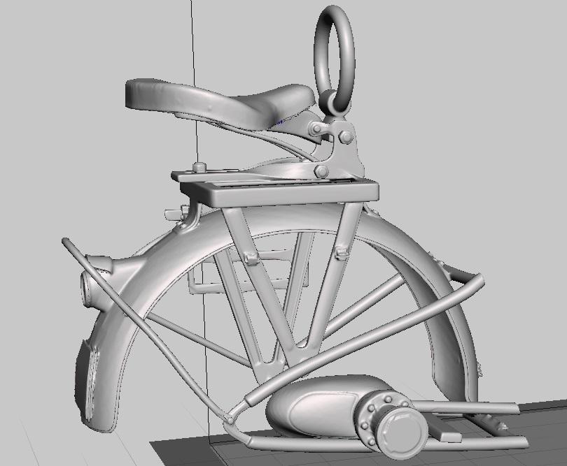Moto R75 avec side et figurines pièce à pièce. Parte_10