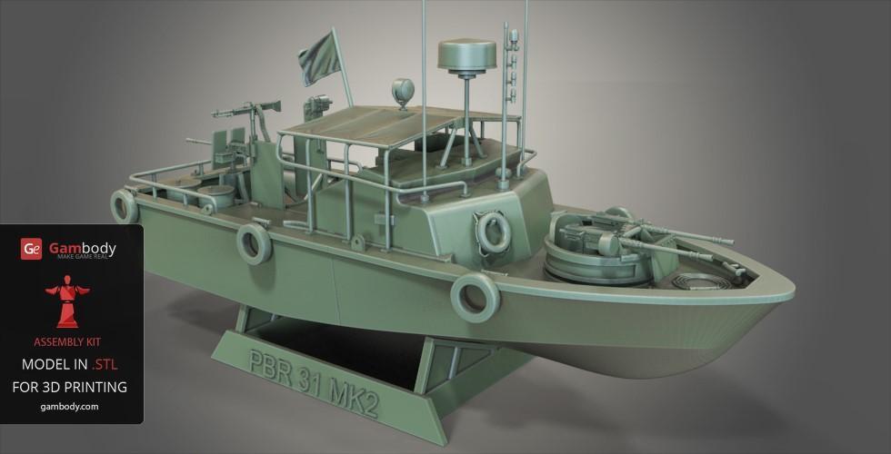 Patrouilleur fluvial  PBR MK2 1/35 - Impression 3D personnelle Patrol10