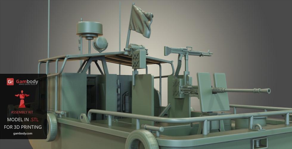 Patrouilleur fluvial  PBR MK2 1/35 - Impression 3D personnelle Patrol11