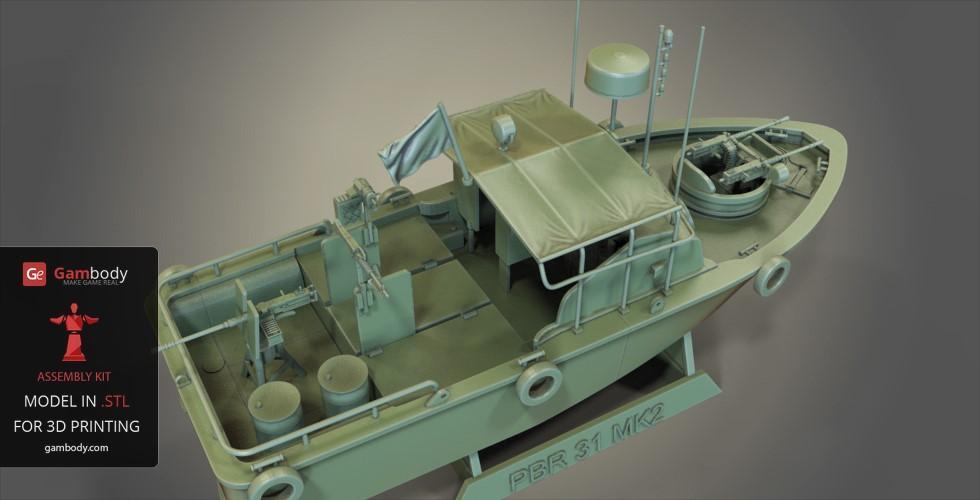 Patrouilleur fluvial  PBR MK2 1/35 - Impression 3D personnelle Patrol12