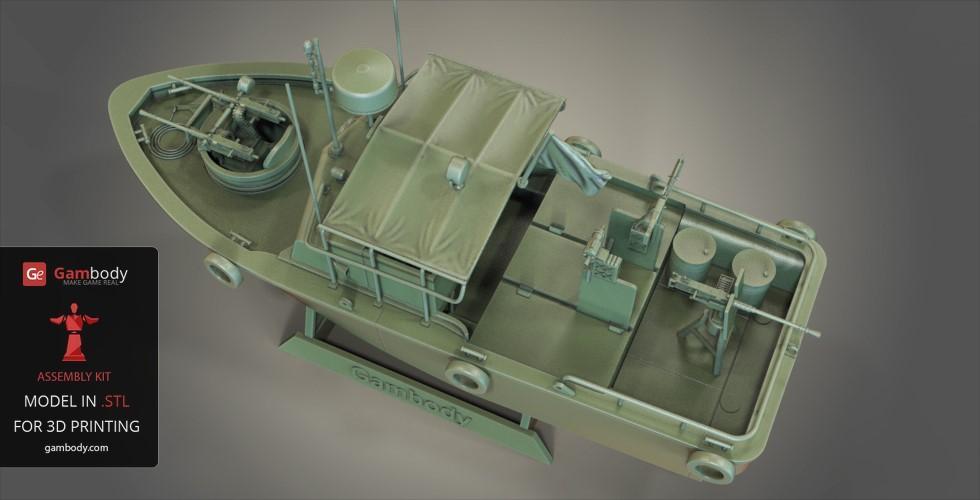 Patrouilleur fluvial  PBR MK2 1/35 - Impression 3D personnelle Patrol14