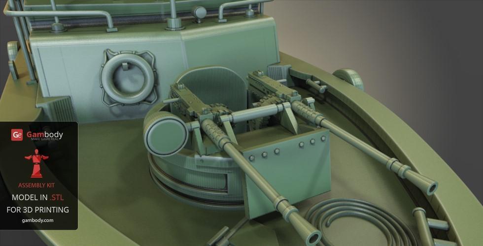 Patrouilleur fluvial  PBR MK2 1/35 - Impression 3D personnelle Patrol17