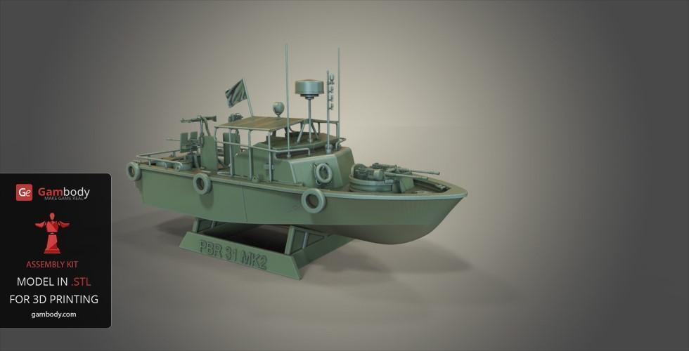Patrouilleur fluvial  PBR MK2 1/35 - Impression 3D personnelle Patrol18