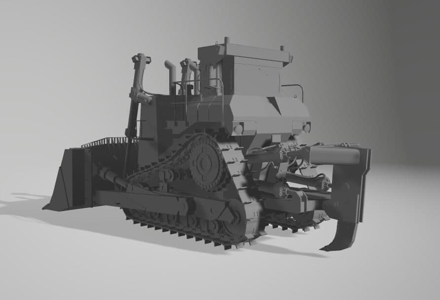 Bulldozer au 1/35 résine Photo_21