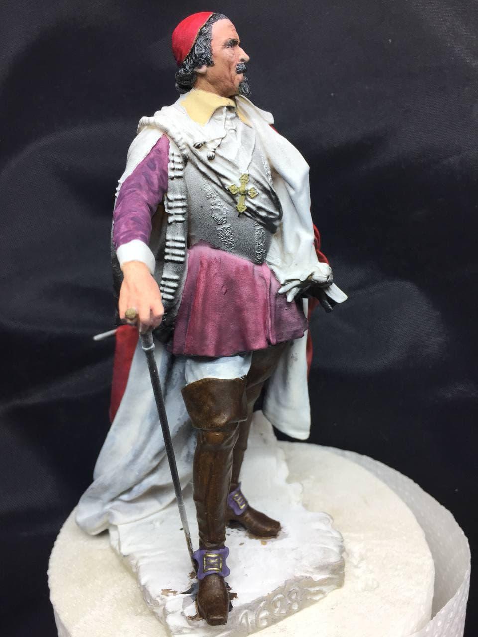 Armand Jean du Plessis Duc de Richelieu Résine 3D ( 12cm ) Terminé Photo_85