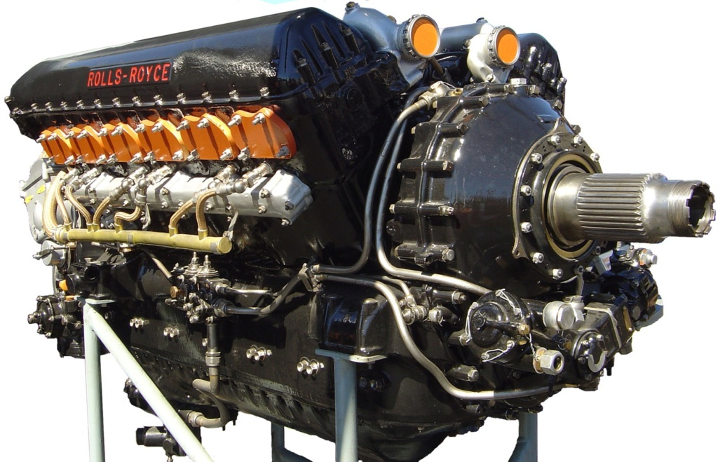 Rolls-Royce Merlin engine résine 1/24 Rolls-10