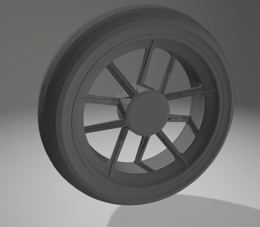 Moto Ducati Scrambler 1/10 3D Roue10