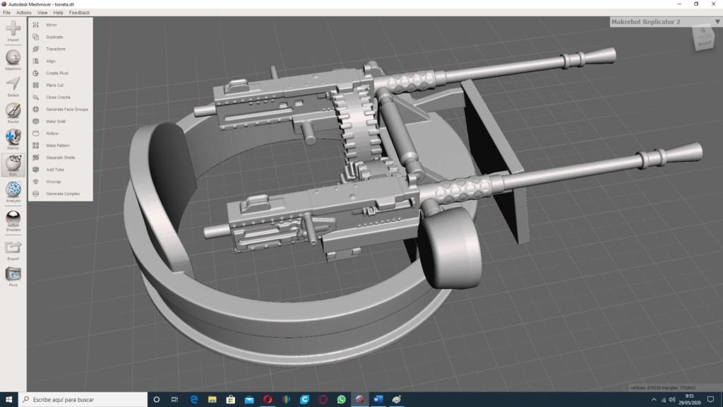 Patrouilleur fluvial  PBR MK2 1/35 - Impression 3D personnelle - Page 4 Torret10
