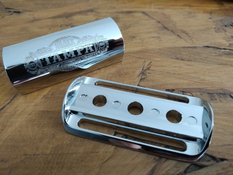 "Tampa shave company:   Chrome ""Heavyweight"" Shorty Safety Razor Tampa110"