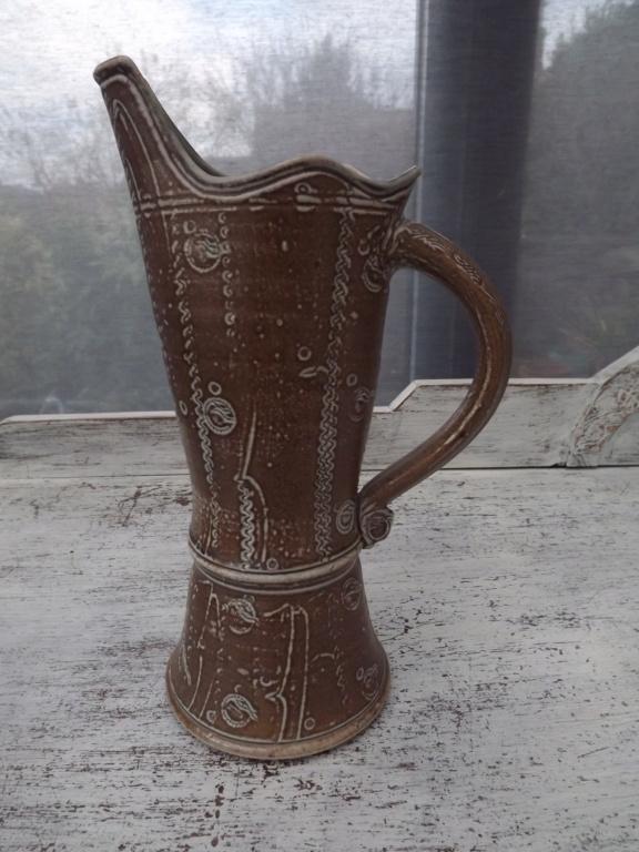 Decorated Salt glazed Ceramic jug - Maureen Minchin Dscf0312