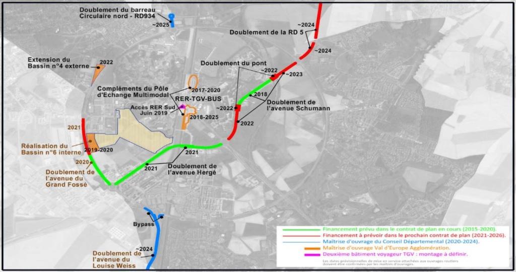 [News] Extension du Parc Walt Disney Studios avec nouvelles zones autour d'un lac (2020-2025) - Page 37 Route10