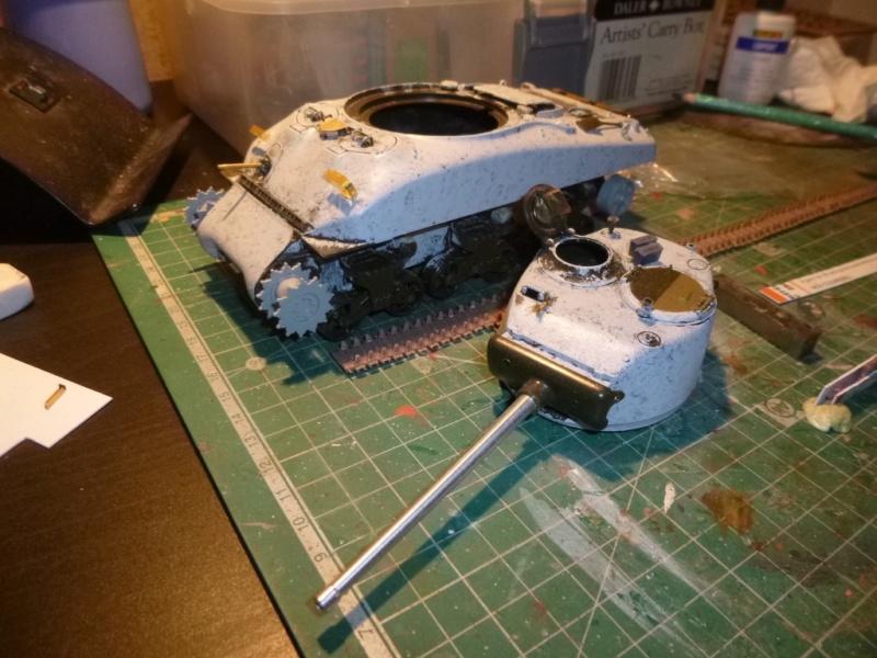 Sherman M4 surblindé Allemagne 1945 P1040935
