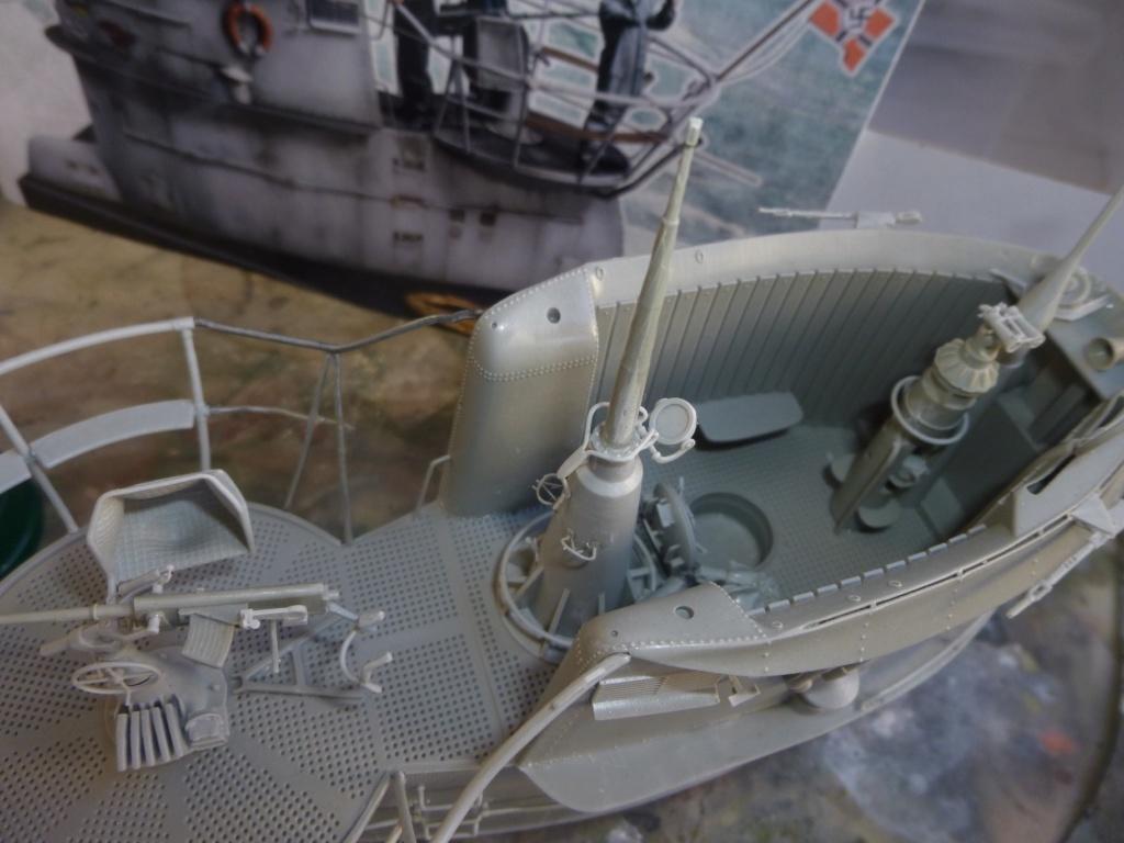 """U-Boot allemand U-69 et son équipage - Scale 75 série """"War front"""" - 1/35 - Résine P1050474"""