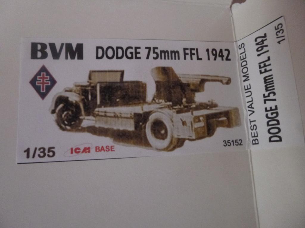Camion Dodge et canon de 75mm FFL /1942- Best Value Models - 1/35 - résine-plastique sur base de maquette ICM P1050642