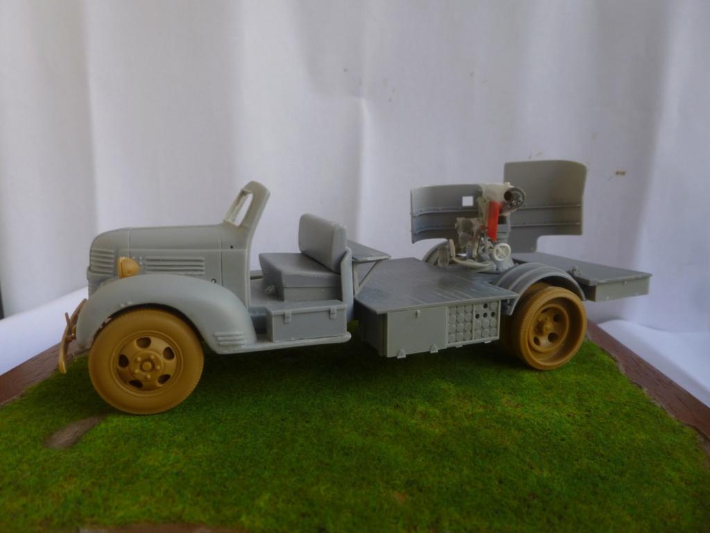 Camion Dodge et canon de 75mm FFL /1942- Best Value Models - 1/35 - résine-plastique sur base de maquette ICM P1050647