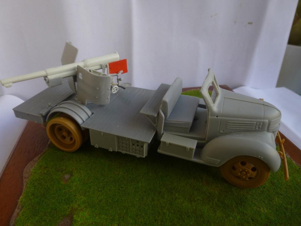 Camion Dodge et canon de 75mm FFL /1942- Best Value Models - 1/35 - résine-plastique sur base de maquette ICM P1050649