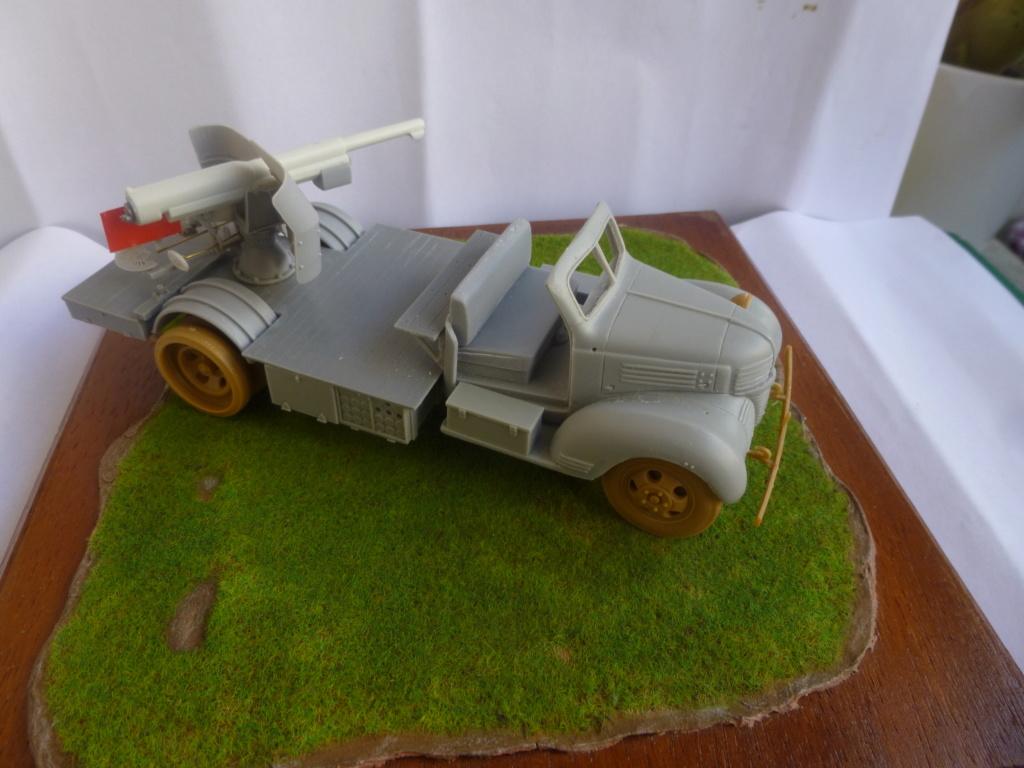 Camion Dodge et canon de 75mm FFL /1942- Best Value Models - 1/35 - résine-plastique sur base de maquette ICM P1050651