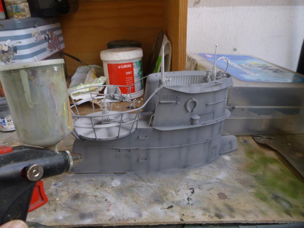 """U-Boot allemand U-69 et son équipage - Scale 75 série """"War front"""" - 1/35 - Résine P1050811"""
