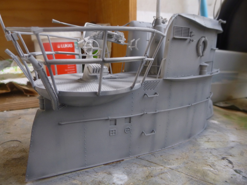 """U-Boot allemand U-69 et son équipage - Scale 75 série """"War front"""" - 1/35 - Résine P1050813"""