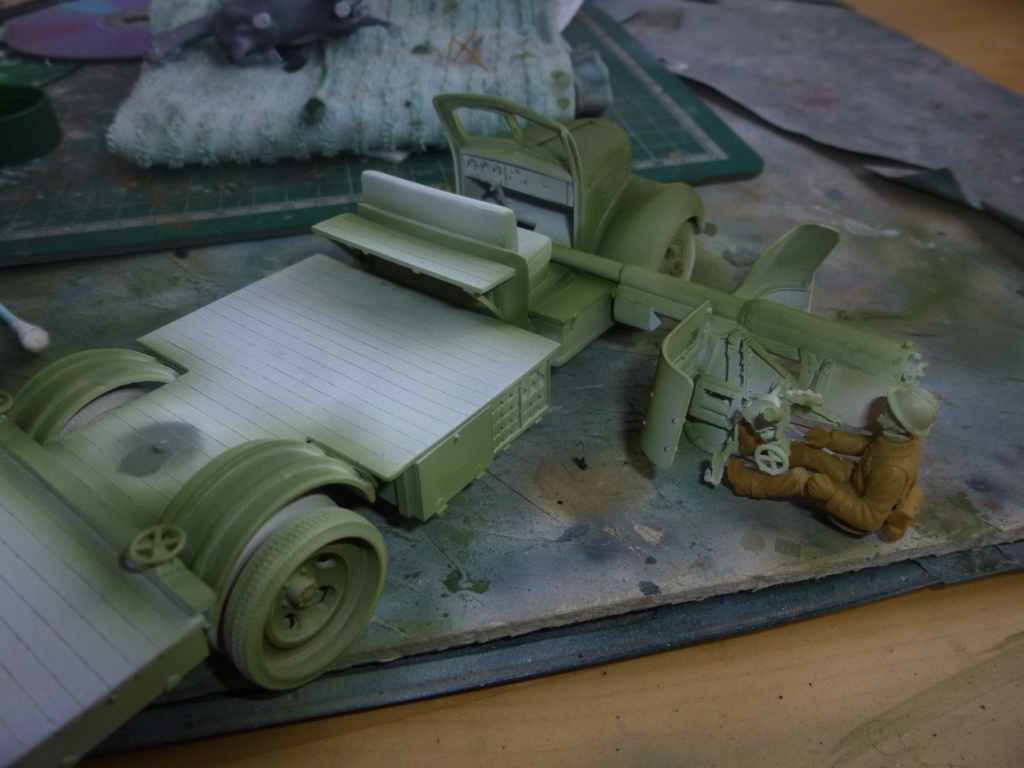 Groupe Spécial d'Artillerie-FFL-Tunisie 1942- camion Dodge canon 75MM -Azimut Productions P1060640