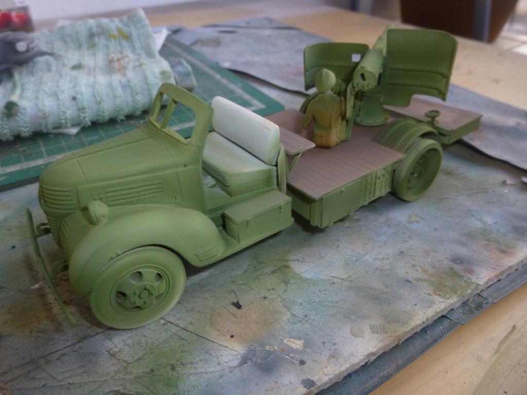 Groupe Spécial d'Artillerie-FFL-Tunisie 1942- camion Dodge canon 75MM -Azimut Productions P1060644