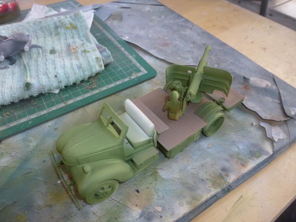 Groupe Spécial d'Artillerie-FFL-Tunisie 1942- camion Dodge canon 75MM -Azimut Productions P1060645